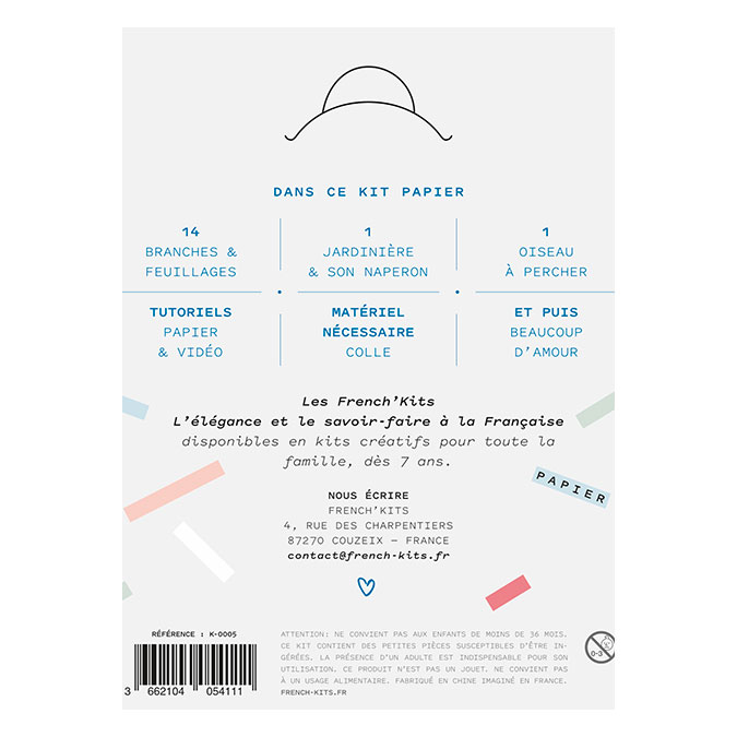 Kit papier La jardinière