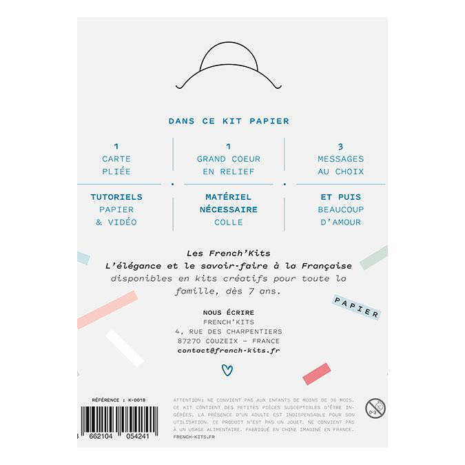 Kit Carte postale Le cœur pop-up