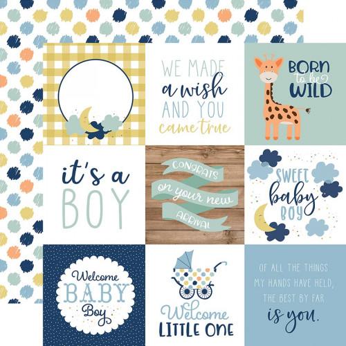 Baby Boy - Papier 4x4 Journaling Cards