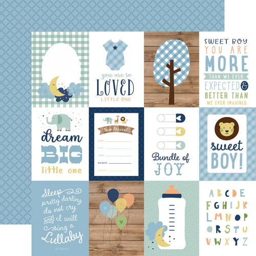 Baby Boy - Papier 3x4 Journaling Cards