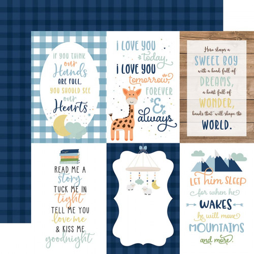 Baby Boy - Papier 4x6 Journaling Cards