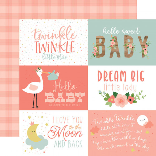 Baby Girl - Papier 6x4 Journaling Cards