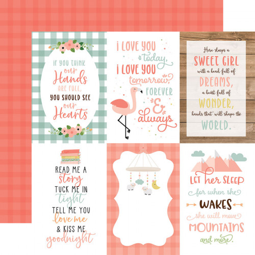 Baby Girl - Papier 4x6 Journaling Cards