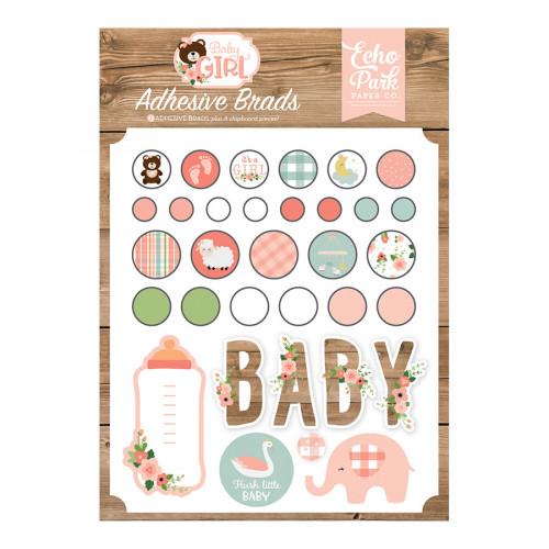 Baby Girl Brads adhésifs