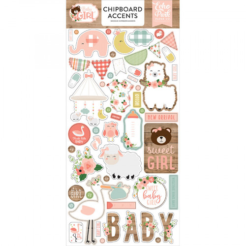 Baby Girl Chipboards
