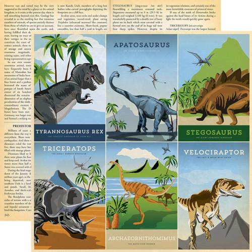 Dinosaurs - Papier 4x6 Journaling Cards