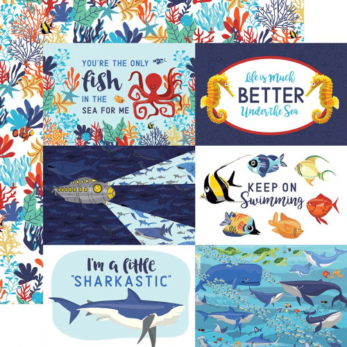 Fish are Friends - Papier 4x6 Journaling Cards