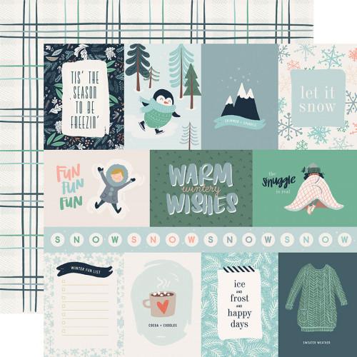 Snow Much Fun - Papier 3x4 Journaling Cards