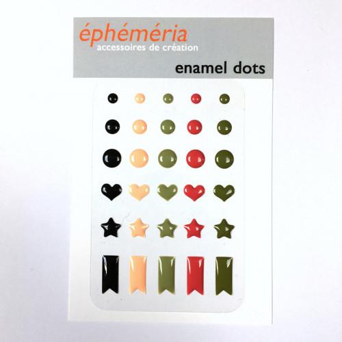 Enamel Dots Plume