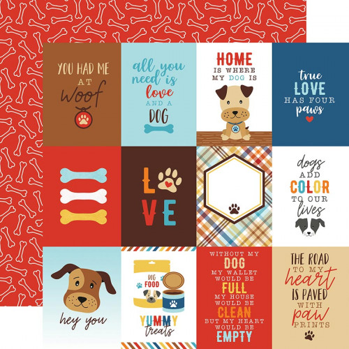 I love my Dog - Papier 3x4 Journaling Cards