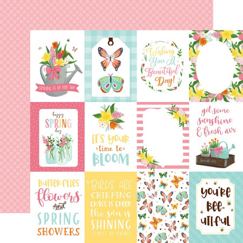 I love Spring - Papier 3x4 Journaling Cards
