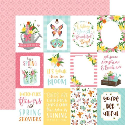 I love Spring - Papier 3x4 Journaling Cards
