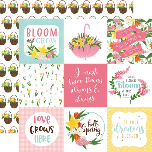 I love Spring - Papier 4x4 Journaling Cards