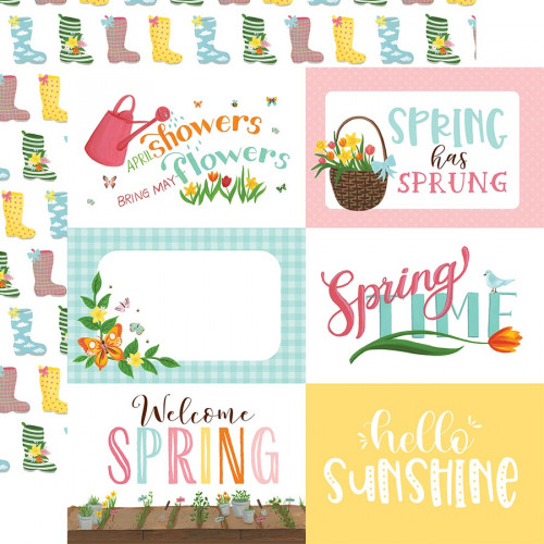 I love Spring - Papier 6x4 Journaling Cards