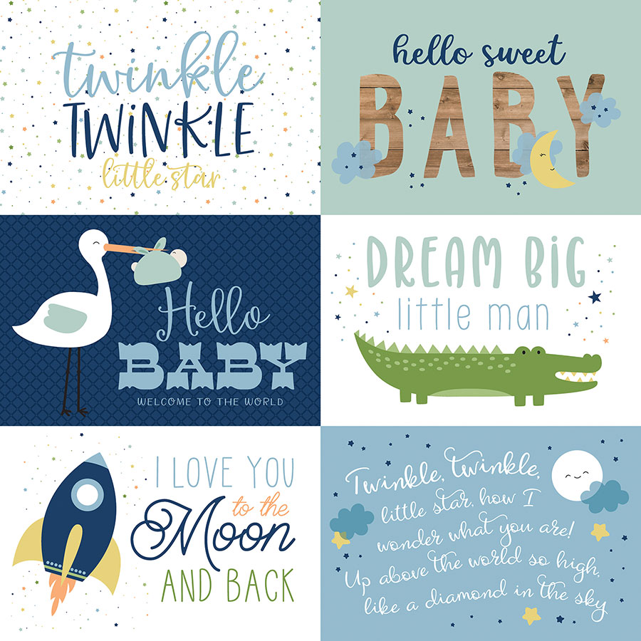 Baby Boy - Papier 6x4 Journaling Cards