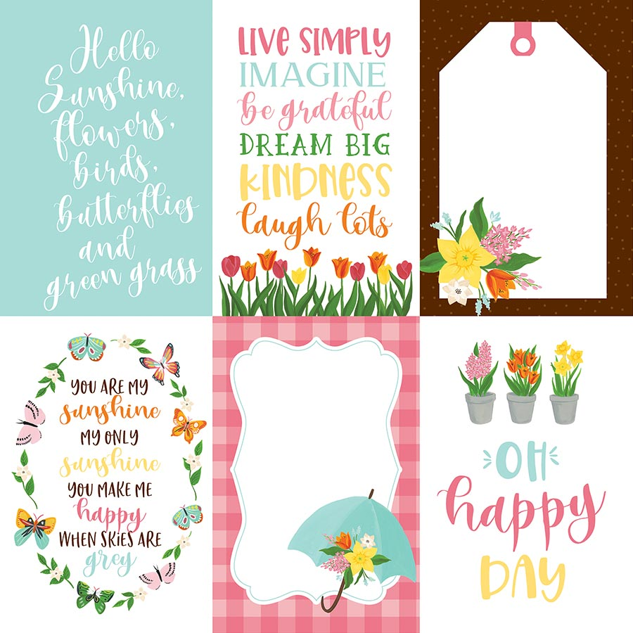 I love Spring - Papier 4x6 Journaling Cards