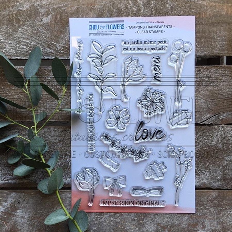 Tampons transparents Bouquet d'hiver