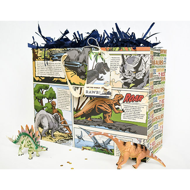 Dinosaurs - Papier 3x4 Journaling Cards