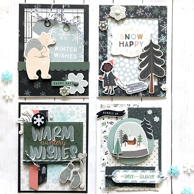 Snow Much Fun - Papier 4x6 Journaling Cards