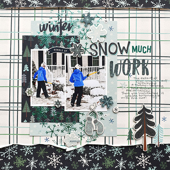 Snow Much Fun - Papier 3x4 Journaling Cards