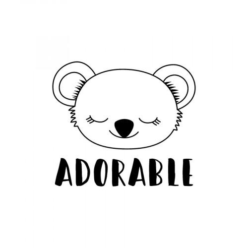 Tampon transparent Adorable - 4 x 4 cm