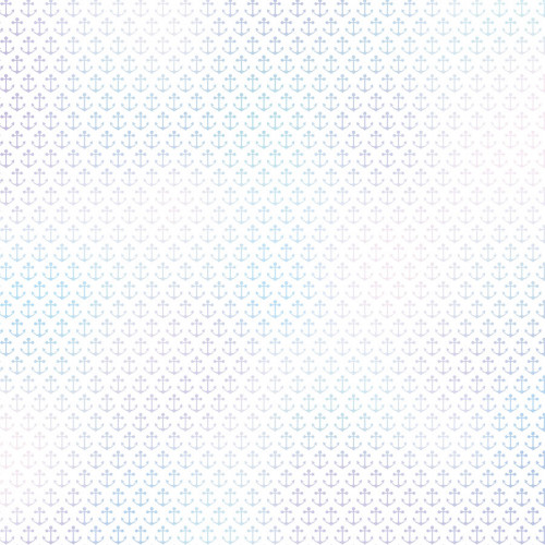 Calque imprimé ancres 30 x 30 cm - effet holographique