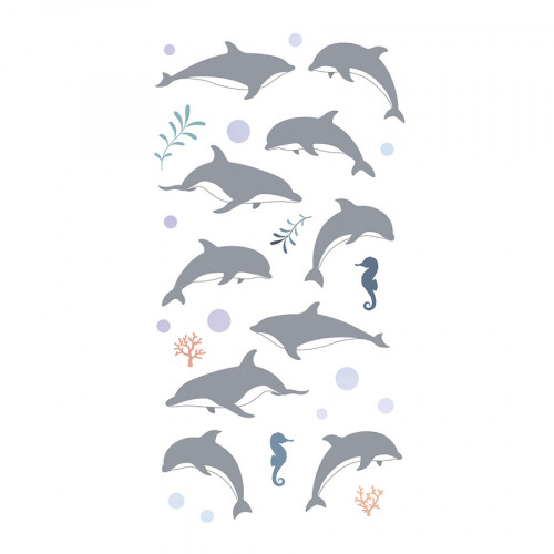 Stickers Epoxy holographique Dauphins