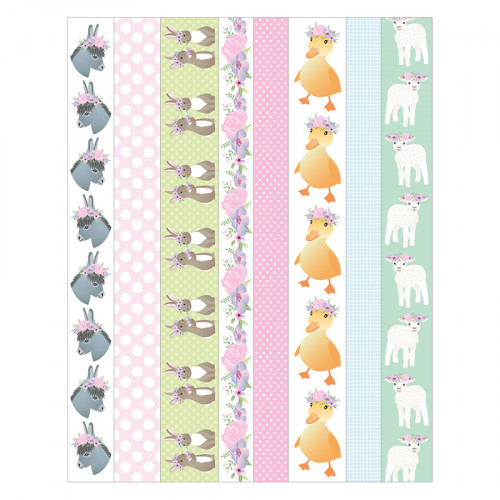 Happy Spring Masking Tape Stickers - 3 planches