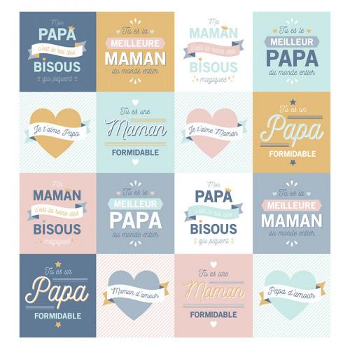 Stickers Papa / Maman