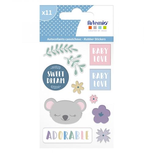 Stickers en caoutchouc My Little Baby - 11 pcs