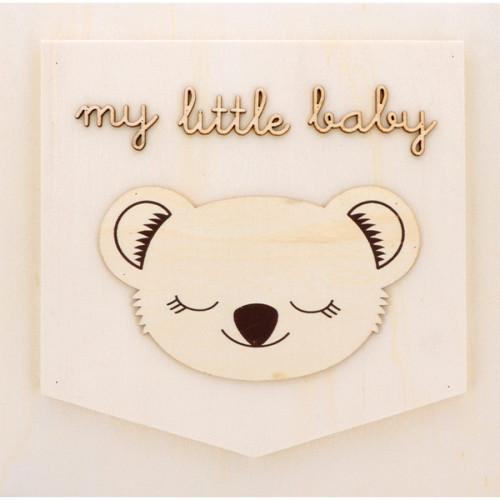 Châssis My Little Baby en bois - 25 x 25 cm