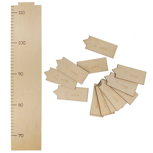 Toise en bois 10 x 97 x 1 cm