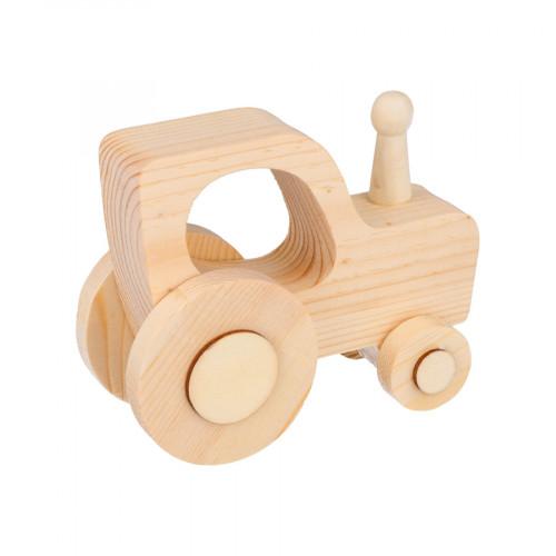 Tracteur en bois 12 x 9,5 x 5 cm