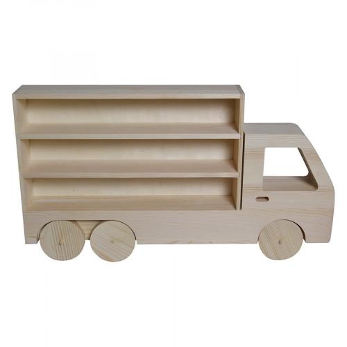 Etagère Camion en bois 47,5 x 26,5 x 6,5 cm