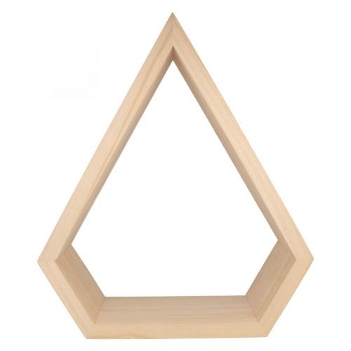 Etagère Diamant en bois 34,5 x 40 x 12 cm