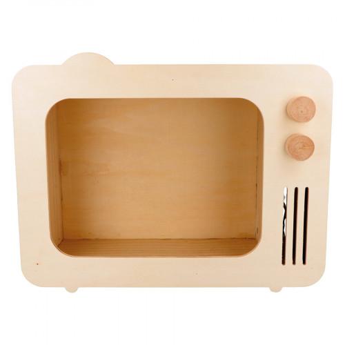 Etagère Télévision en bois avec éclairage 30,8 x 24 x 12 cm