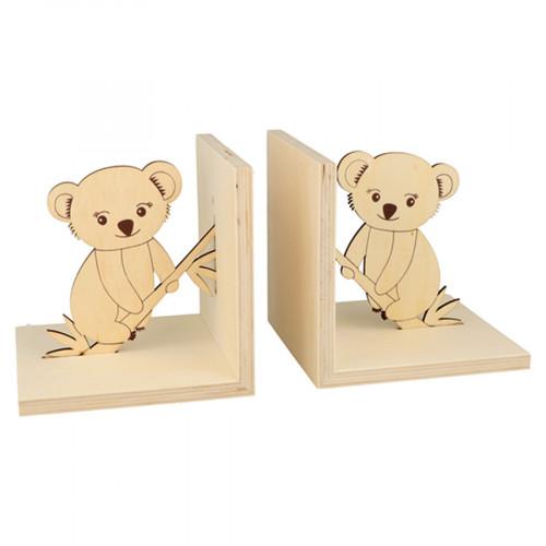 Serre-Livres en bois Koala 12 x 12 x 12 cm - 2 pcs