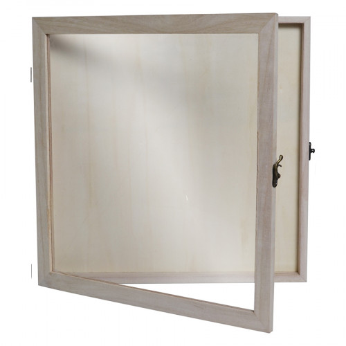 Cadre vitrine en bois 32,8 x 32,8 x 2,8 cm