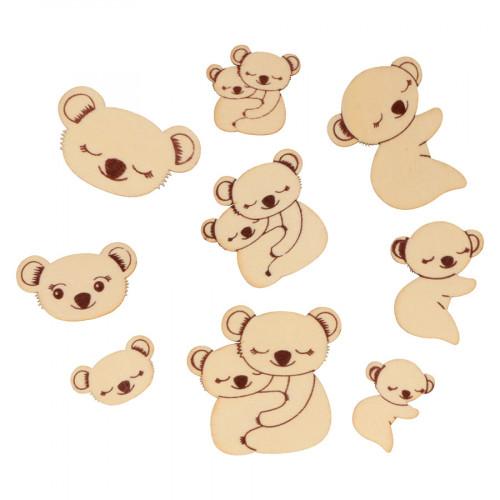 Mini Silhouettes en bois Koalas - 24 pcs