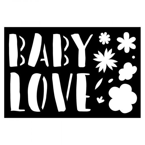 Pochoir Baby Love 15 x 10 cm