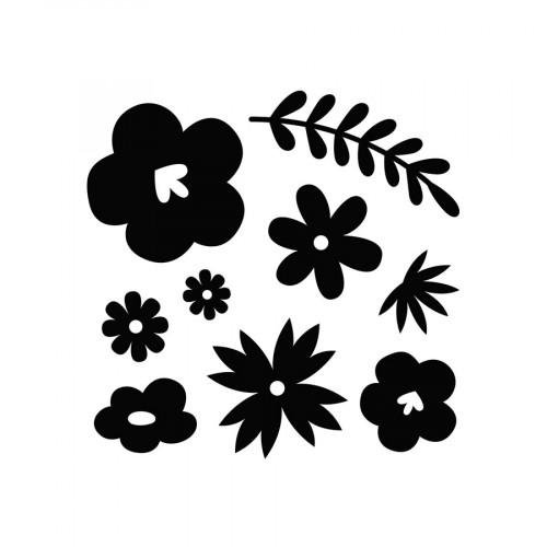 Die Set Fleurs - 9 pcs