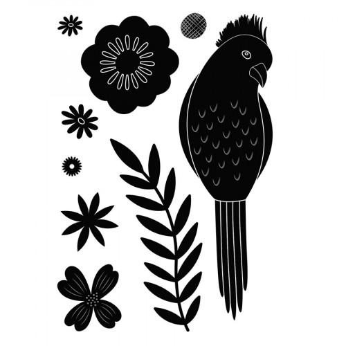 Die Set Oiseau exotique - 9 pcs