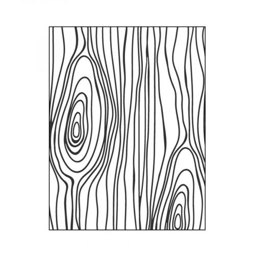 Plaque d'embossage Bois - 10 x 15 cm