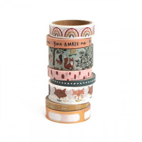 Magical Forest Washi Tape - 8 rouleaux