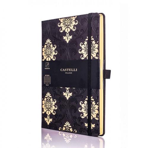 Carnet de notes ligné Black & Gold Baroque 13 x 21 cm