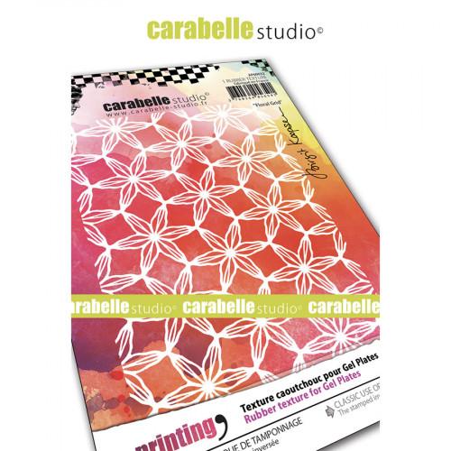 Tampon texture pour Gel Press Grille de fleurs - 16,5 cm