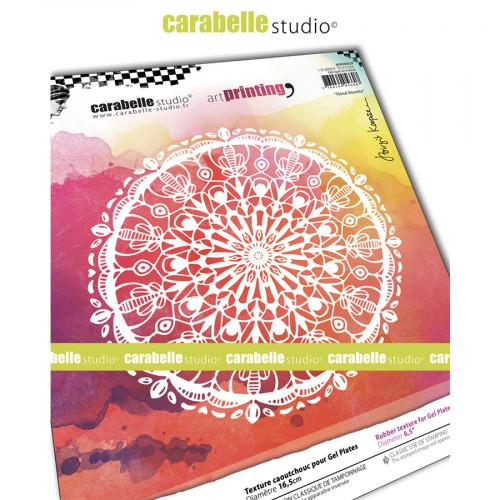Tampon texture pour Gel Press Rosette fleurie - 16,5 cm