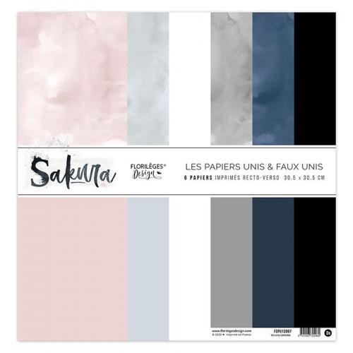 Papiers unis assortis Sakura