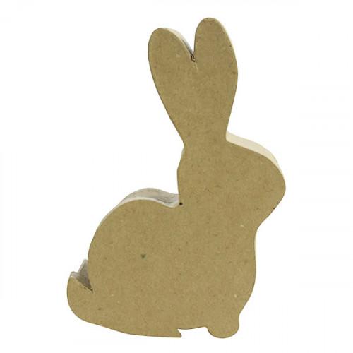 Boîte lapin en papier mâché - 13 x 19,5 cm