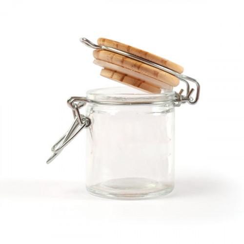 Mini bocal rond en verre - H.6 cm